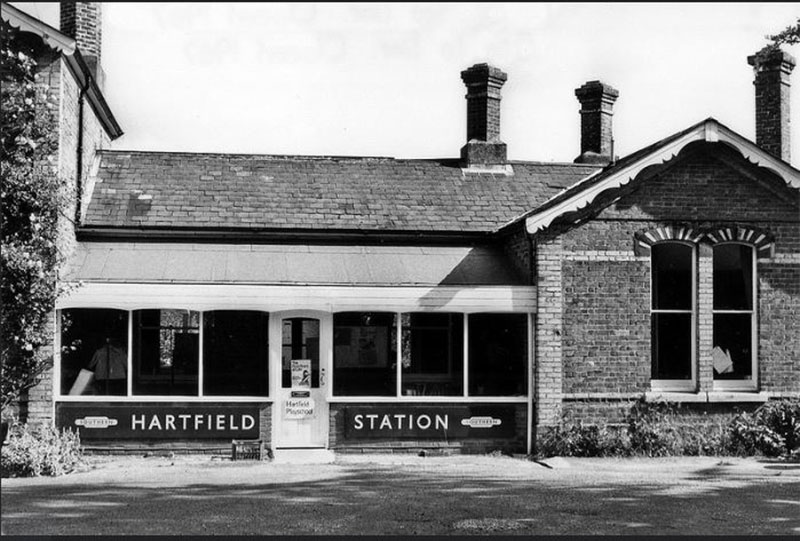 Hartfield-station-front-B&W